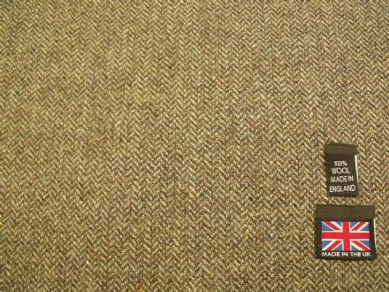 100% Wool Shetland Tweed Herringbone Fabric  AZ45
